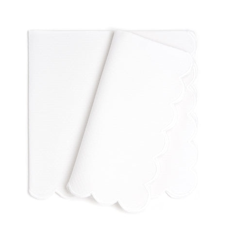 Savannah Gardens Dinner Napkin, White