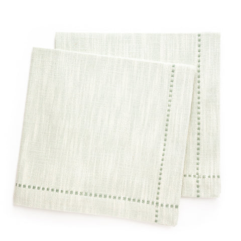 Slub Solid Cross Stitch Napkin, Mist