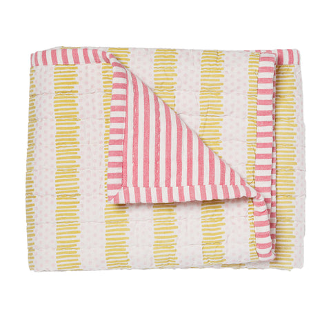 Hug Me Tight Blanket, Pink/Citron
