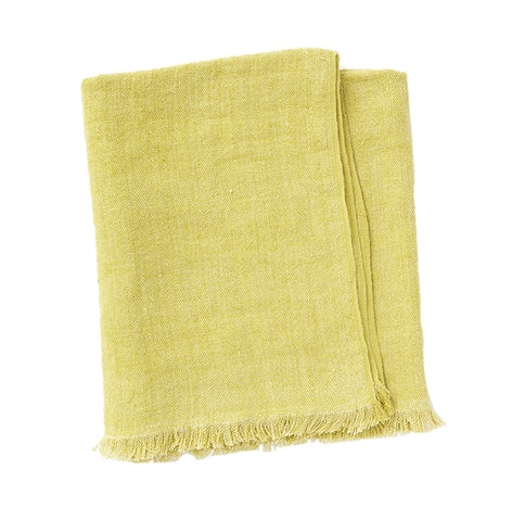 Linen Throw, Citron