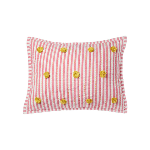 Rest My Little Head Pillow, Pink/Citron