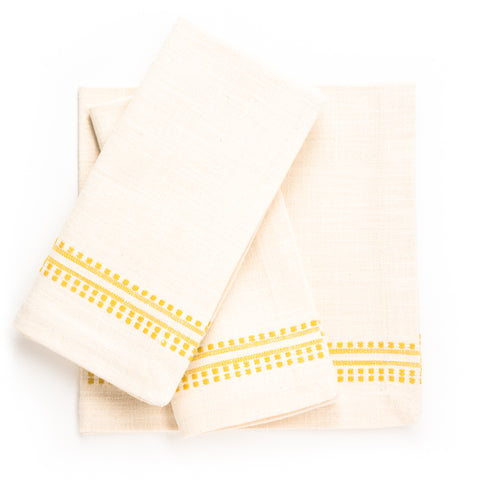 Slub Natural Dobby Napkin, Maize