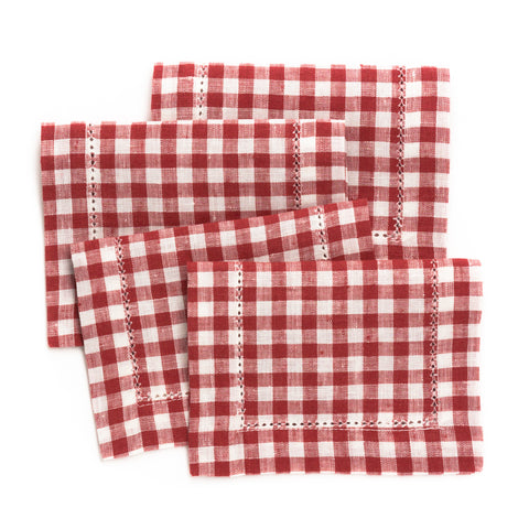 Picadilly Cocktail Napkin, Cinnabar