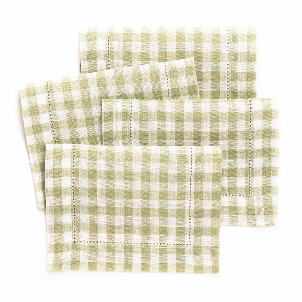 Picadilly Cocktail Napkin, Olive