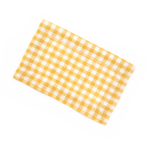 Picadilly Cocktail Napkin, Mustard
