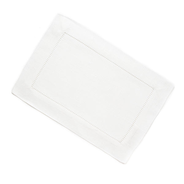 Festival Cocktail Napkin, White