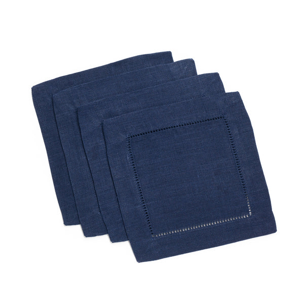 Festival Square Cocktail Napkin, Navy