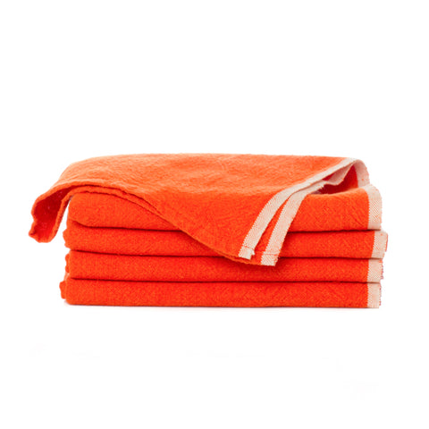 Chunky Linen Tea Towel, Orange