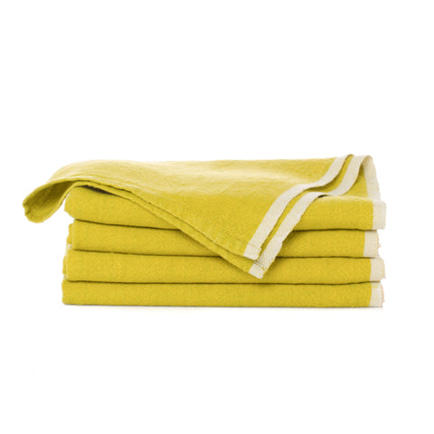 Chunky Linen Tea Towel, Lime
