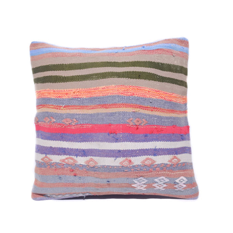 Multi Stripe Kilim Pillow, II