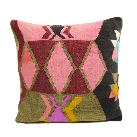 Pink Diamond Kilim Pillow