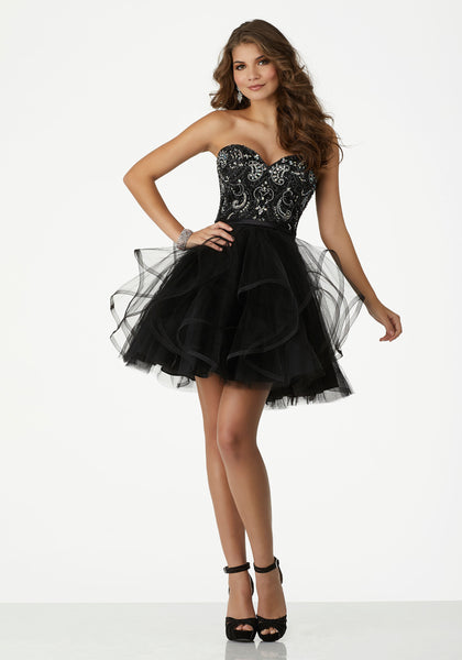 Strapless Sweetheart Gown with Corset Back 33005