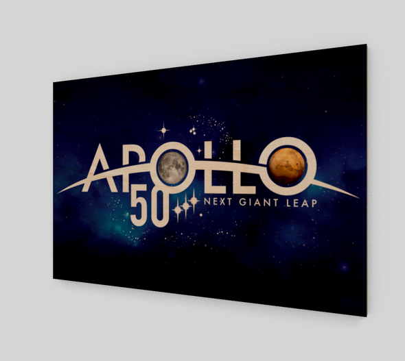 Apollo 50th Anniversary of Moon Landing Wood Print
