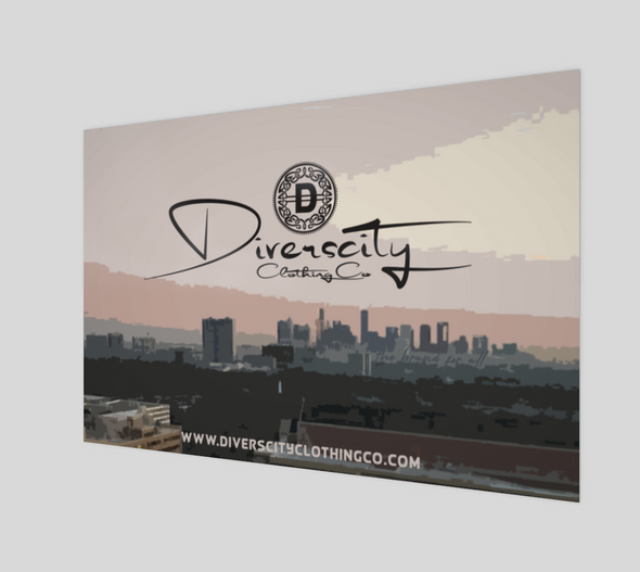 Diverscity Clothing Co. Art Poster