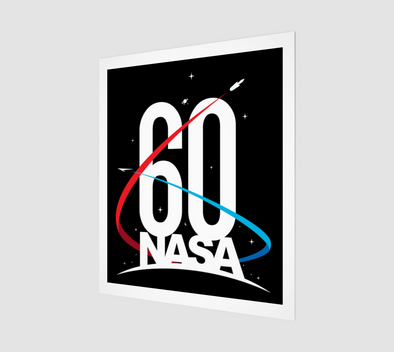 NASA 60th Anniversary Art Print