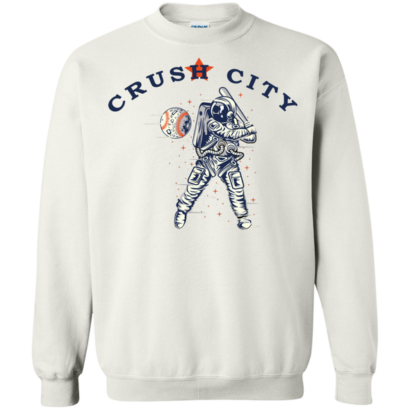 Crush City Crew Neck Sweatshirt (white)