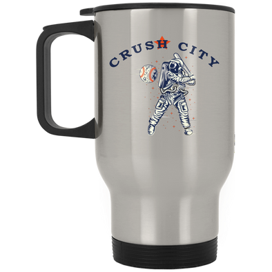 Crush City Silver Stainless Travel Mug