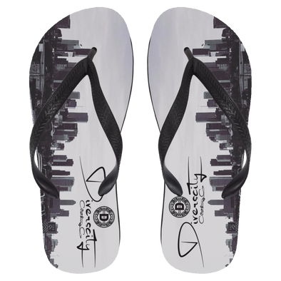 D45 Graphic Flip Flops - Large