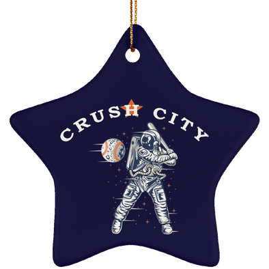 Crush City Ceramic Star Ornament (navy)