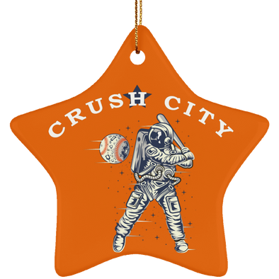 Crush City Ceramic Star Ornament (burnt orange)