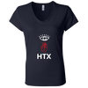 Eye Heart HTX Ladies Jersey V-Neck T-Shirt