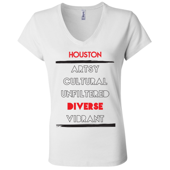 5 Facets of Houston Jersey V-Neck T-Shirt
