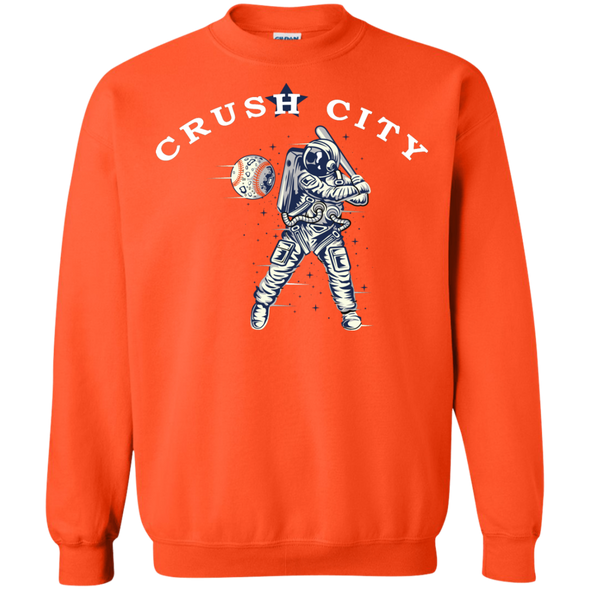 Crush City Crewneck Pullover Sweatshirt  (orange)