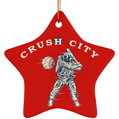 Crush City Ceramic Star Ornament (red)