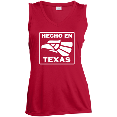Hecho En Texas Ladies' Sleeveless Moisture Absorbing V-Neck