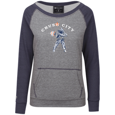 Crush City Junior's Vintage Terry Fleece Crew