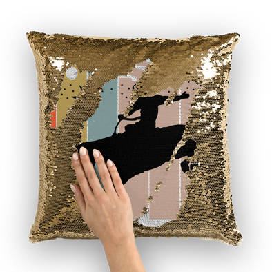 Houston Cowboys Sequin Cushion Cover