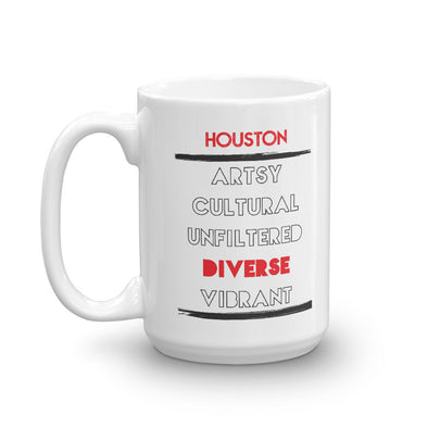 5 Facets of Houston Mug