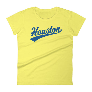 Forever Houston Women's Tee spring yellow/lapis blue