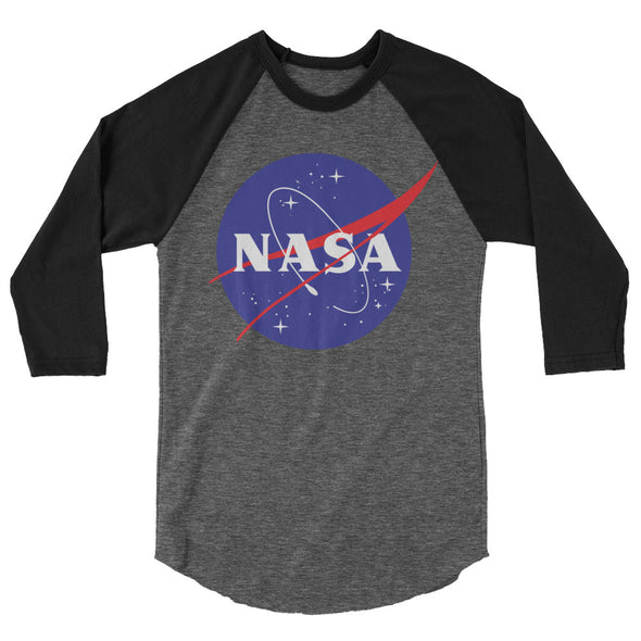 NASA 3/4 Sleeve Poly/Cotton Raglan