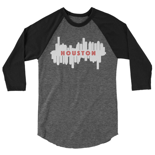 HTX City Views 3/4 Ragland Shirt (grenadine/charcoal)