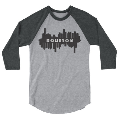 HTX City Views 3/4 sleeve raglan shirt