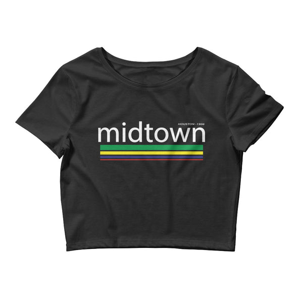 Midtown Houston Women's Crop Tee