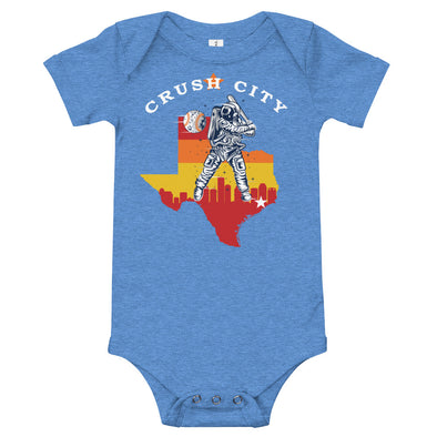 Crush City Astros Rainbow Baby Onesie