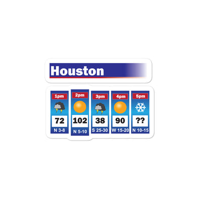 Houston Weather Sticker