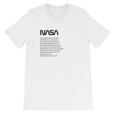 NASA JSC Unisex T-Shirt (black)