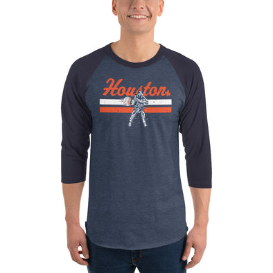 Houston Space Baseball 3/4 Unisex Raglan Shirt