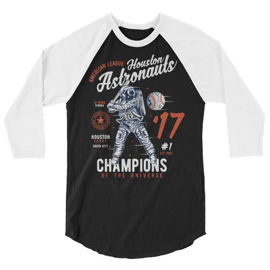 Champions of the Universe! 3/4 sleeve raglan shirt