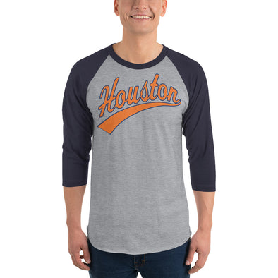 Forever Houston 3/4 sleeve raglan shirt