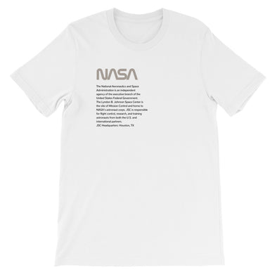 NASA JSC Unisex T-Shirt (warm gray)