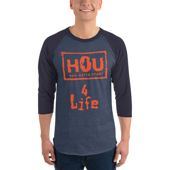 HOU World Order 4 Life 3/4  Raglan Shirt