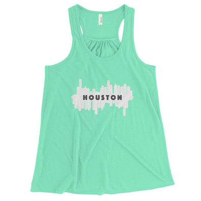 HTX City Views Women's Flowy Racerback Tank