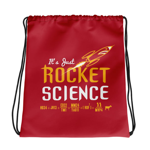 It's Just Rocket Science Drawstring bag