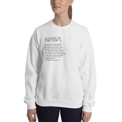 NASA JSC Sweatshirt (warm gray)