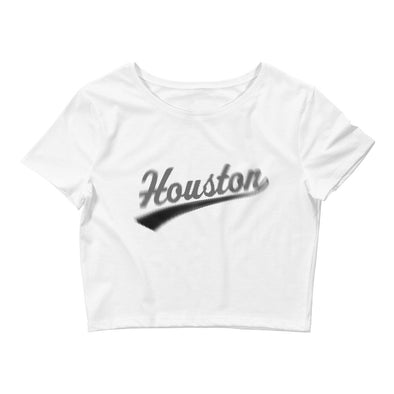 "Forever Houston ""Distorted"" Women's Crop Tee"