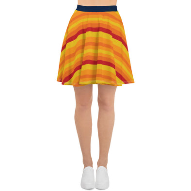 Ladies Rainbow Skater Skirt